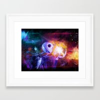 jack skellington Framed Art Prints featuring Jack Skellington. by Emiliano Morciano (Ateyo)
