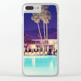Palm Springs Hotel Clear iPhone Case