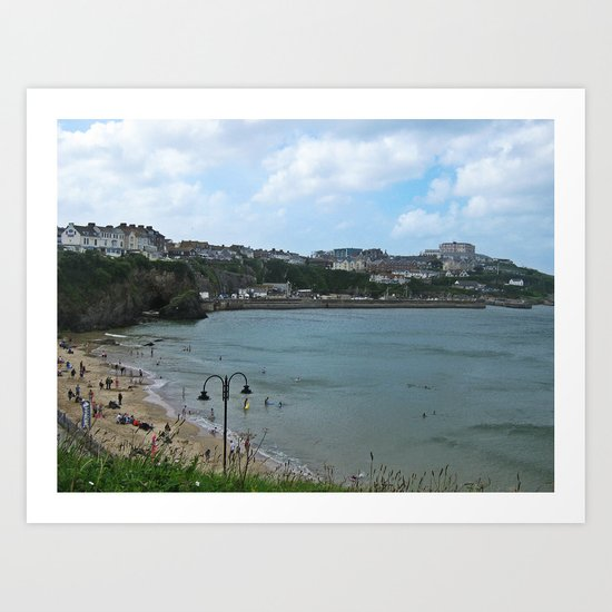 Newquay Harbour  Art Print