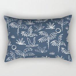 Oasis (navy) Rectangular Pillow