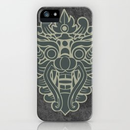 Barong, Balinese mask / The Beach movie Richard's t-shirt iPhone Case