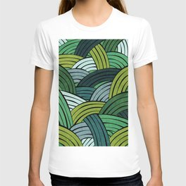 Lines - Green T-shirt