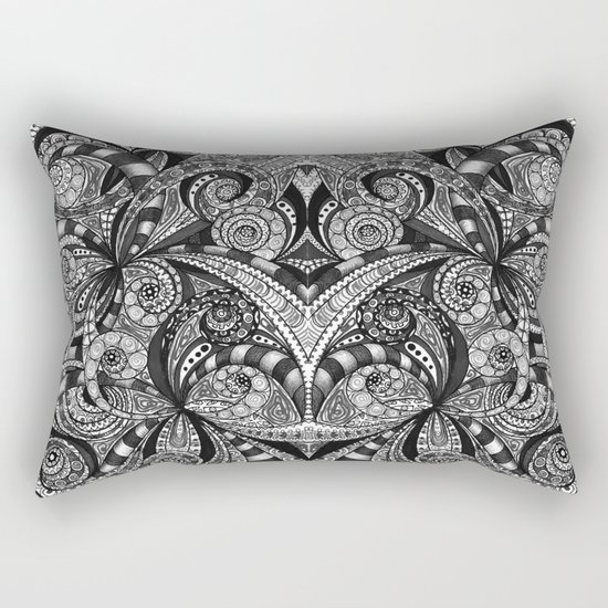 Drawing Floral Zentangle G6B Rectangular Pillow