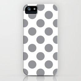 Grey Large Polka Dots Pattern iPhone Case