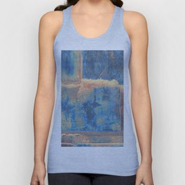 Rusted Metal Plates Abstract Unisex Tank Top