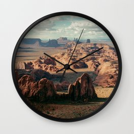 Monument Valley Overview Wall Clock
