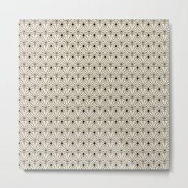 Retro art deco pattern ornament. Metal Print