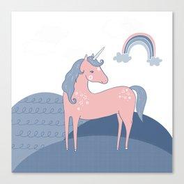 Unicorn hills Canvas Print