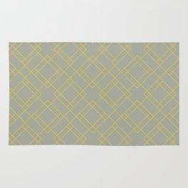 Simply Mod Diamond Mod Yellow on Retro Gray Rug