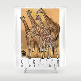 Giraffes of Africa Shower Curtain