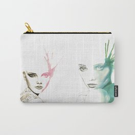 Two-Faced Faces Carry-All Pouch