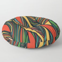 Tropical color leaves pattern Floor Pillow