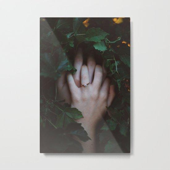 Hands Nature Metal Print