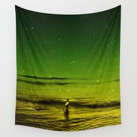 surfer Wall Tapestries featuring Lost Surfer Star Series by Stoian Hitrov - Sto