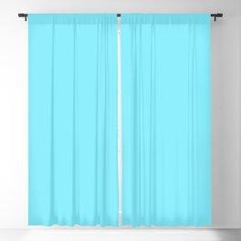 Artic Blue Solid Color Plain Blackout Curtain