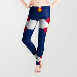 Colorado State Flag Patriotic Design Leggings