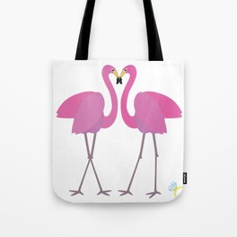 Flamingos in love Tote Bag