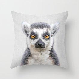 Lemur 2 - Colorful Throw Pillow