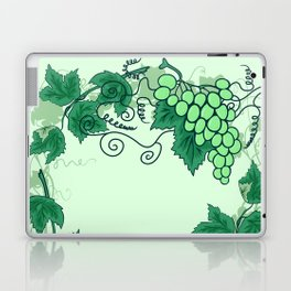Abstract grapevine with frame from leaves Laptop & iPad Skin