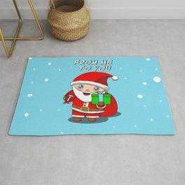 Christmas Santa A Gift For You Rug