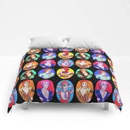 Glam Bowie Spaced Out Comforters
