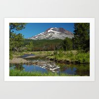 South Sister Mountain, Central Oregon Art Print