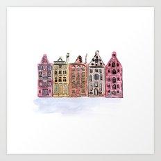 Coloured Houses Art Print