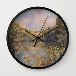 Lakeside Landscape by Renoir Wall Clock