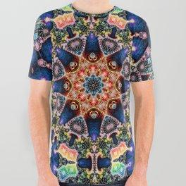 BBQSHOES: Kaleidoscopic Fractal Digital Art Design 1702K All Over Graphic Tee