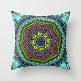 Fractal Agate Throw Pillow