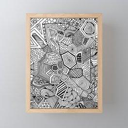 Lucky Abstract Geometric DREAM CATCHER Framed Mini Art Print
