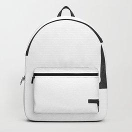 Letter I Initial Monogram Black and White Backpack