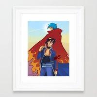 gurren lagann Framed Art Prints featuring Gurren Lagann by Vicky Newberry