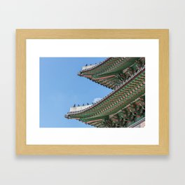 Gyeongbokgung Palace Lines_South Korea Framed Art Print