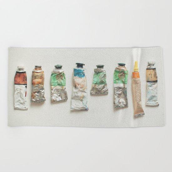 Oil Paints Beach Towel