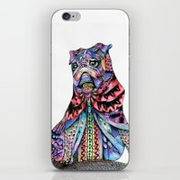 tatoo iPhone & iPod Skins featuring Tatoo pug by Annie Liu