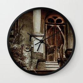 Old doors - Olympios House Wall Clock