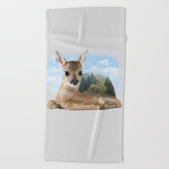 Baby Roe Deer Beach Towel
