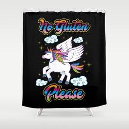 Not Gluten Please - Unicorn Nutrition Health Shower Curtain