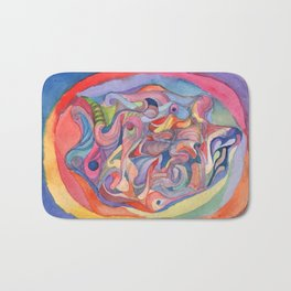 Abstract window into nature Bath Mat
