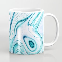 Liquid Marble - aqua & blues Coffee Mug