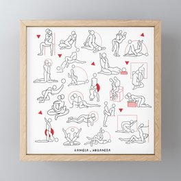 Kamasutra Cute I Framed Mini Art Print