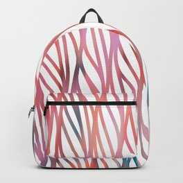 Geometrical coral pink teal watercolor pattern Backpack