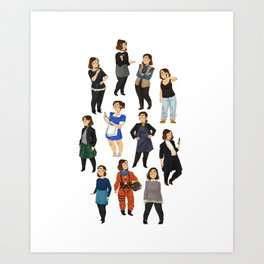 Every Clara Outfit Ever   S9 Art Print
