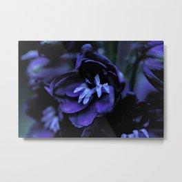 Blue flowers in the dark Metal Print