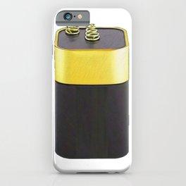 Battery 6-volt Lantern Spring Terminals Four F Cells iPhone Case