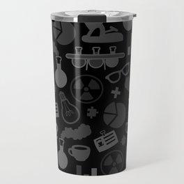 Grey and Black Science Pattern Travel Mug
