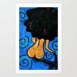 Golden Body Chiq Art Print