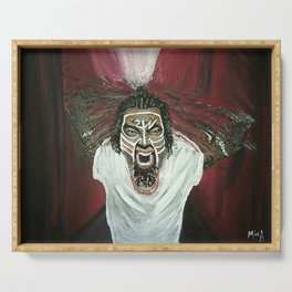 Tech N9ne Painting in Acrylics Serving Tray