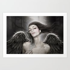 When Angels Break I Art Print